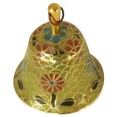 Glass Faux Cloisonné Small Hand Bell
