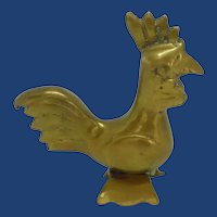 Modern Looking Brass Roaster Figurine