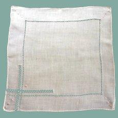 Drawn Work Pink Handkerchief Hankie