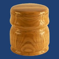 Pine and Oak Wood Round Box with Lid