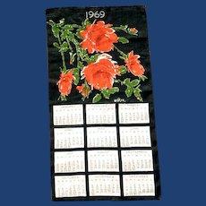 Vera Neumann 1969 Linen Calendar Hand Towel
