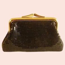 Black Mesh Whiting and Davis Coin Purse