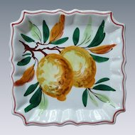Hand Painted 1950's Decorative Fruit Plate