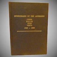 Ephemerides of the Asteroids Astrology Book