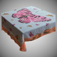 Large Butterfly Scarf / Shawl / Tablecloth