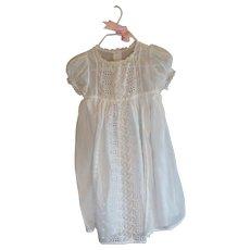 Vintage Christening Baby White Dress