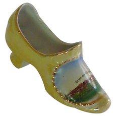 Gruss aus Motzingen China Porcelain Slipper Shoe