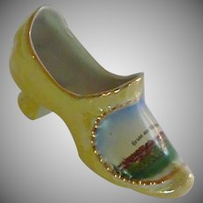 Gruss aus Motzingen China Porcelain Slipper Shoe