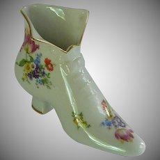 Lovely Large Porcelain Shoe Slipper with Flowers