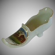 Porcelain Shoe Slipper Soarta, Wisconsin Souvenir
