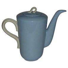 Homer Laughlin Skytone Blue Coffee Pot
