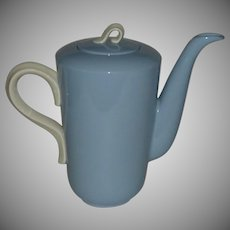 Homer Laughlin Skytone Blue Coffee Pot