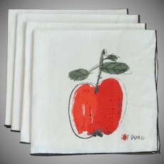Set of Four Vera Apple Linen Napkins