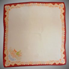Asian Saturday Silk Handkerchief Hanky