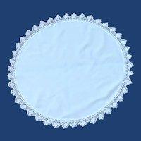 "Large White Round 20"" Table Doily"