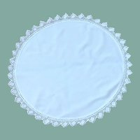 "Large White Round 20"" Table Doily"