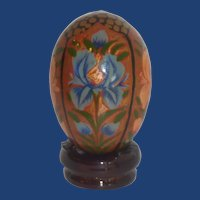 Asian India Floral Wooden Egg