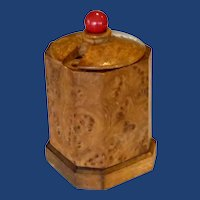 Birdseye Maple Cigarette Round Box Holder