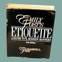 Emily Post's Etiquette 1984 Fourteenth Edition Book