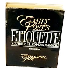 Emily Post's Etiquette 1984 Fourteenth Edition Book