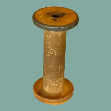 Large Vintage Wooden Spool