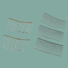 Metal Wire Hair Combs 1950's
