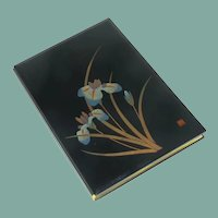 Beautiful Asian Black Lacquered Address Book