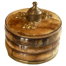 Unusual Faux Bone and Brass Trinket Box