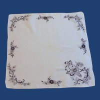 White and Black Handkerchief Hankie