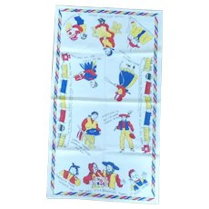 Bright Primary Color Amish Kitchen Hand Towel