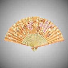 Orange Souvenir of Big Spring, Texas Hand Fan
