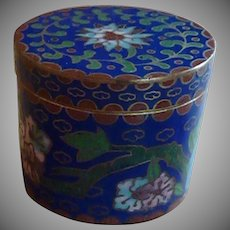 Cobalt Blue Cloisonne  Trinket  Box
