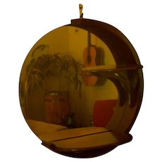Wood / Mirror Display Wall Sconce