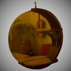Wood / Mirror Display Wall Sconce