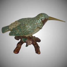 Humming Bird on Branch Trinket Box