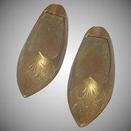 Set of Brass Aladdin Slipper Shoe Ash Trays
