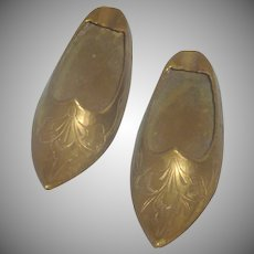 Set of Brass Aladdin Slipper Shoe Ash Trays