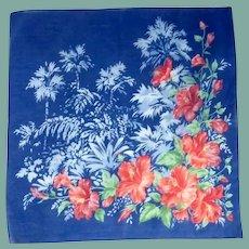 Beautiful Blue Day Lily Flower Handkerchief Hanky –