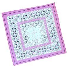Pink Geometric Design Handkerchief Hankie