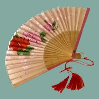 Small Pretty Pink Hand Fan