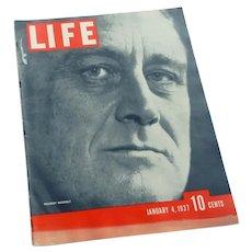 Life Magazine January 4, 1937 President Roosevelt