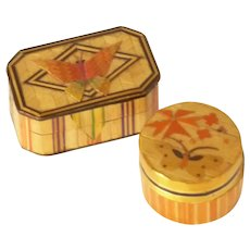 Small Hand Crafted Chinese Wood Lacquered Boxes