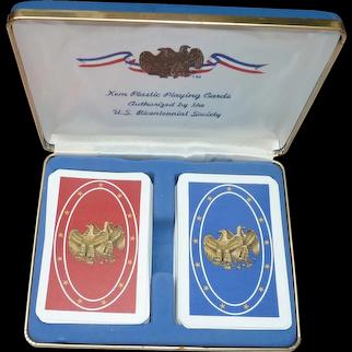 Kem US Bicentennial Playing Cards in Original Box