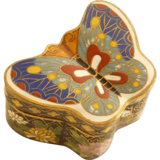 Cloisonné Butterfly Box with Lid