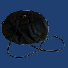 Small Black Evening Bag with Bow and Rhinestones