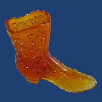 Fenton Amber Button and Bow Daisy Boot Slipper Shoe