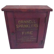 1900's Wood Box for Grinnell Sprinklers