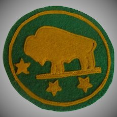 Bison North Dakota State University Felt Patch 1940's