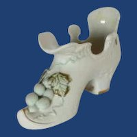 Lefton Porcelain Vintage Grape Slipper Shoe