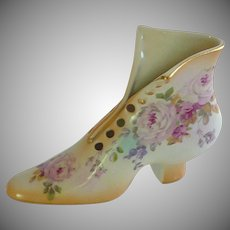 Lovely  Porcelain Slipper Floral Shoe